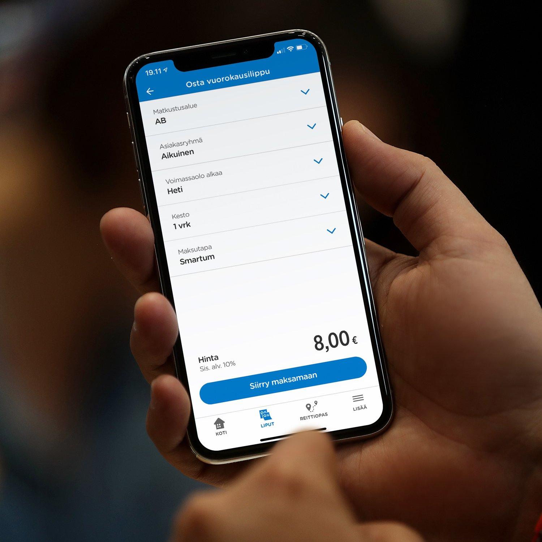 Smartum app payment