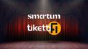 Smartum-logo ja Tiketin logo näyttämöllä